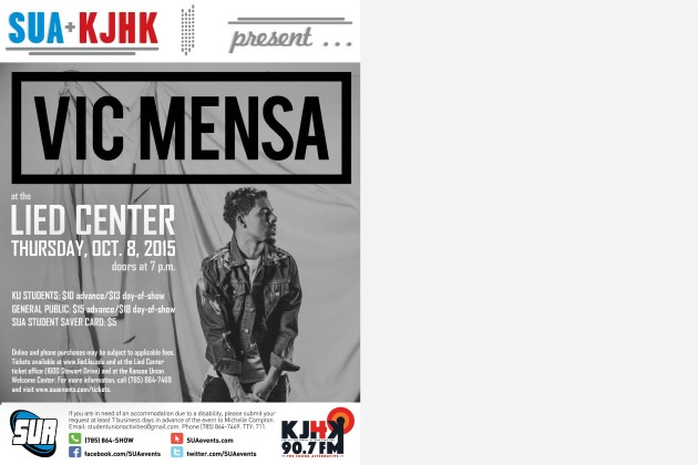 Vic Mensa will perform Oct. 8, 2015 at the Lied Center of Kansas